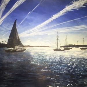 Boats in Balboa Island