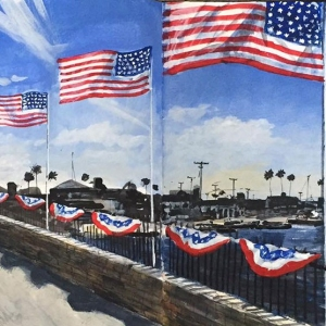Bridge to Balboa Island July 4th