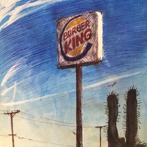 Burger King in the desert