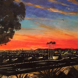 Newport at dusk