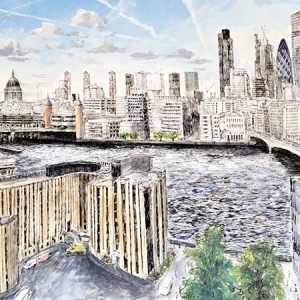 View of London and the city from Southwalk Cathedral - Commission by Jeff Butler