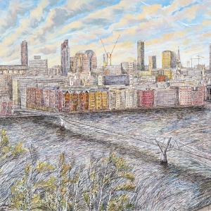 View of St Pauls from Tate Modern 2005 - Sold to Private Owner