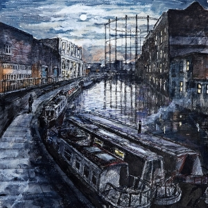 Canal boats by Broadway Market