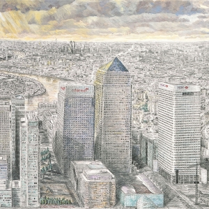 Canary Wharf and City 2006 - Sold to private owner (Affordable Art Fair)