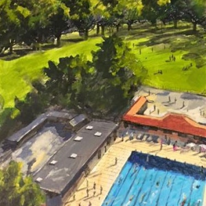 London Fields Lido from Above