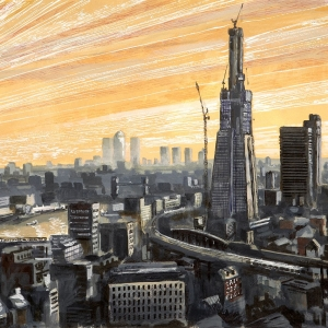 The Shard from London Bridge 2011 - bought by Jeff Jackson as a gift