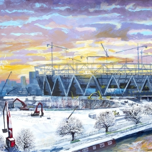 Olympic Park Under Construction - Paintings - December 2010
