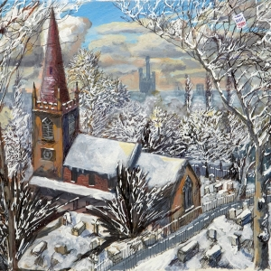 Old St Marys in the snow
