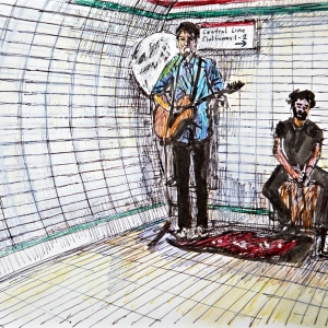 2 Buskers Liverpool Street