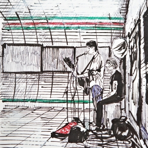 Buskers Liverpool Street
