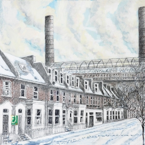 View of Lots Road Power Station Winter 2011