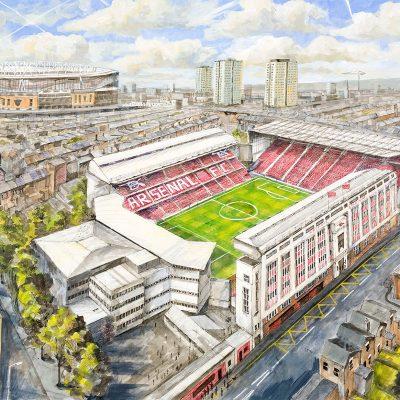 Arsenal, the old Highbury Stadium 2003