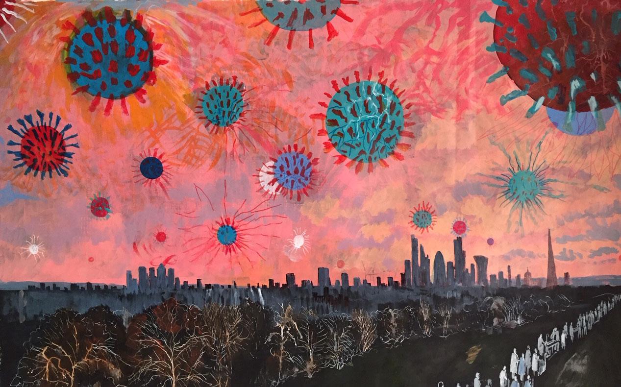New Coronavirus themed Artworks by David Downes