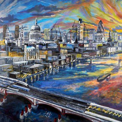 St Pauls and Embankment at Dawn