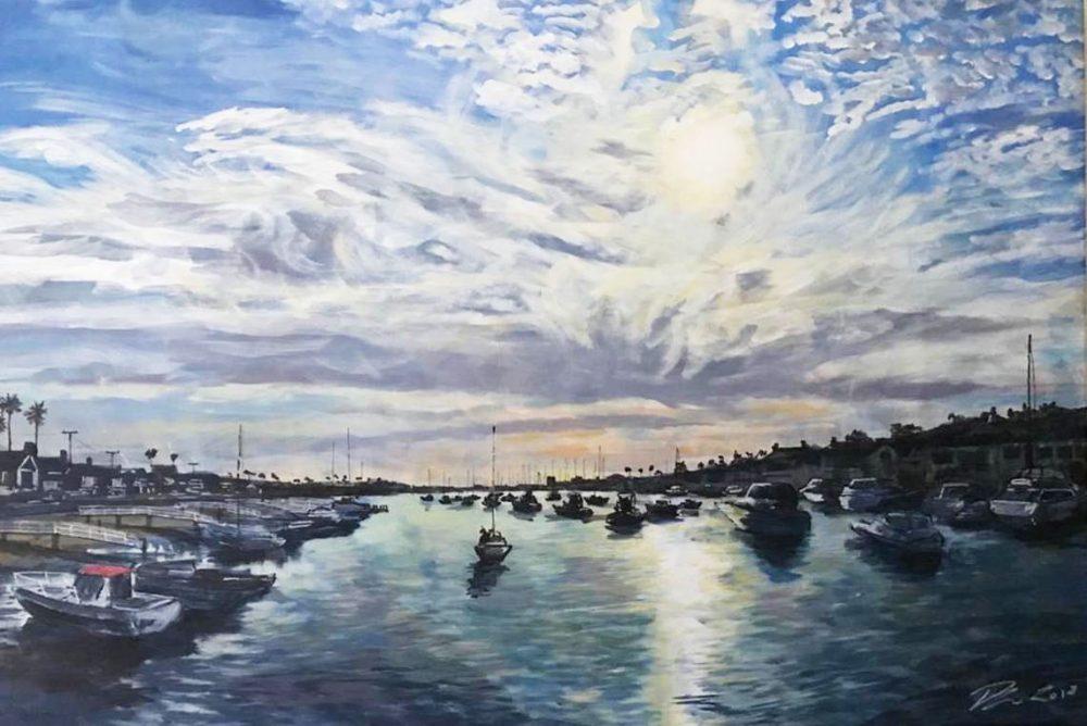 Boats across Bilboa Island