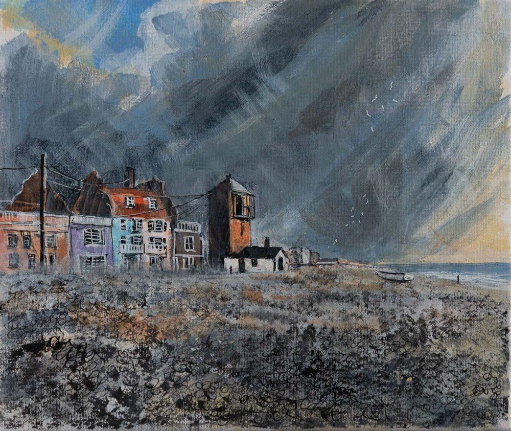 Aldeburgh-Beach - Artwork by David Downes