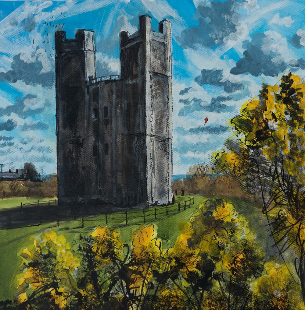 Orford Castle in the Spring